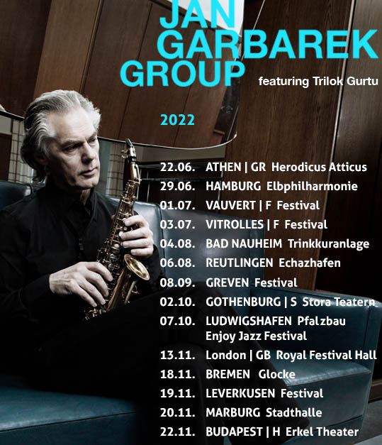 Jan Garbarek 2019 - On Tour by Bremme + Hohensee