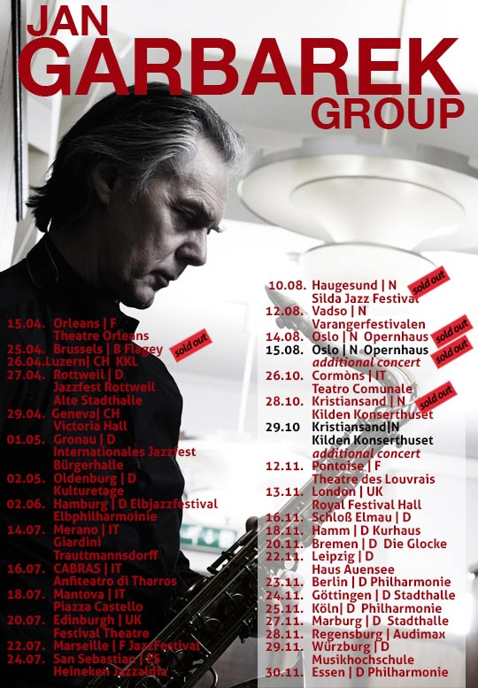 Jan Garbarek Group 2016 - Teaser