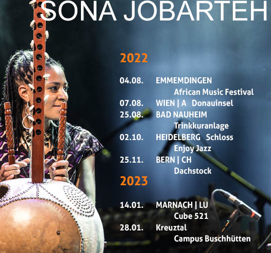Sona Jobarteh as new artist @ Bremme + Hohensee